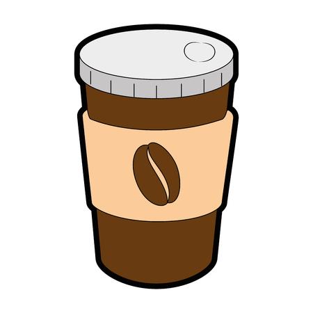 delicious coffee in plastic cup vector illustration design Stock Illustratie