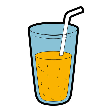 A fresh juice glass icon vector illustration design
