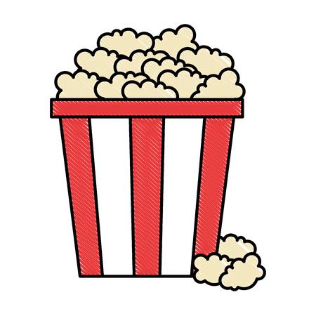 A delicious pop corn icon vector illustration design Illustration
