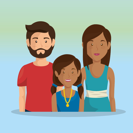 father and mother with daughter vector illustration design Stockfoto