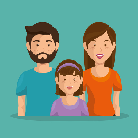 father and mother with daughter vector illustration design Stockfoto - 96159365