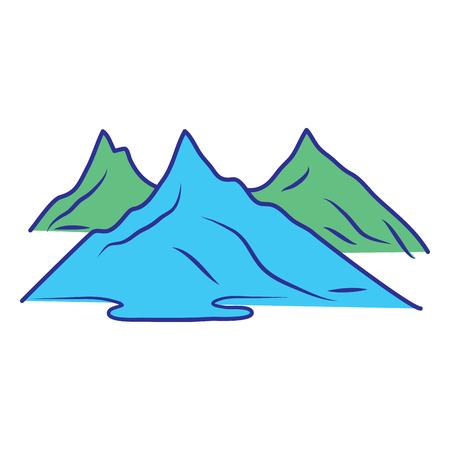 丘や山のシルエット自然ベクターイラスト青緑のデザイン