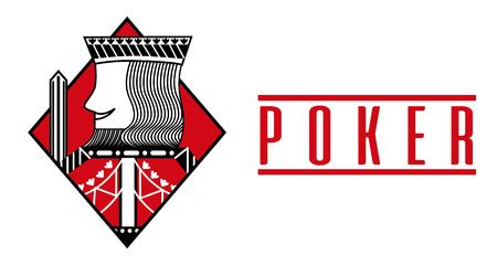 Casino king diamond card poker game banner vector illustration