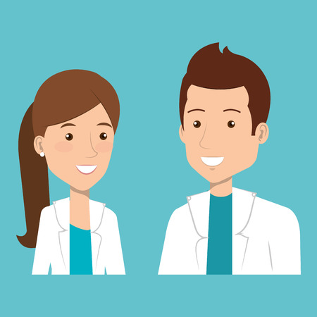 group of medical staff characters vector illustration design