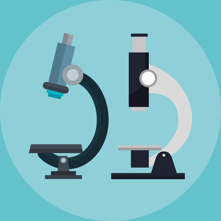 two microscopes medical icon vector illustration design