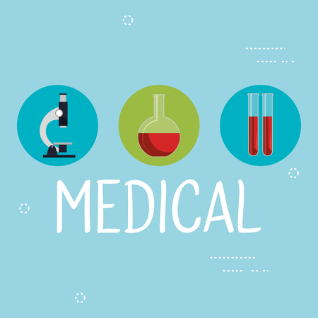 medical elements set icons vector illustration design