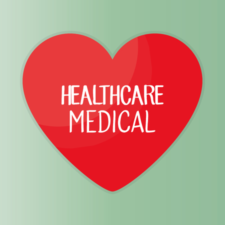 Heart with healthcare icon vector illustration design.