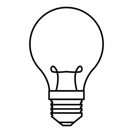bulb light isolated icon vector illustration design Ilustração