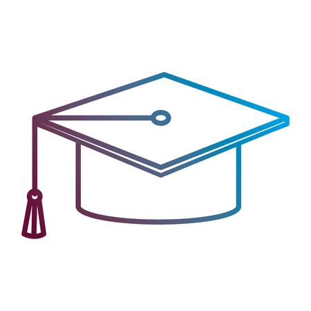 Graduation hat isolated icon vector illustration design.