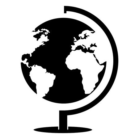 Earth planet school icon vector illustration design.