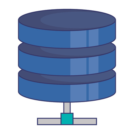 Data center disk storage vector illustration design. Ilustração