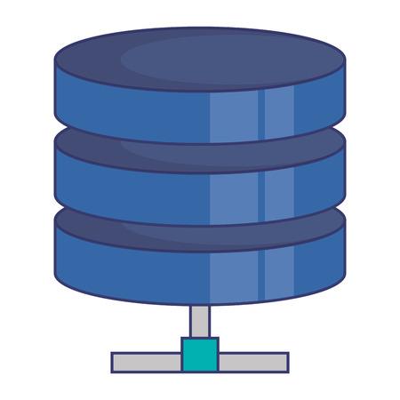 Data center disk storage vector illustration design. Illustration