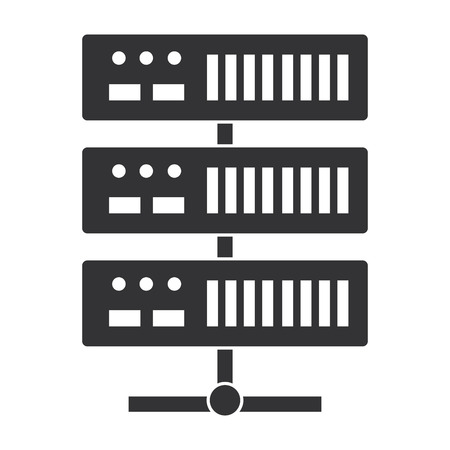 Data center server icon vector illustration design. Ilustrace