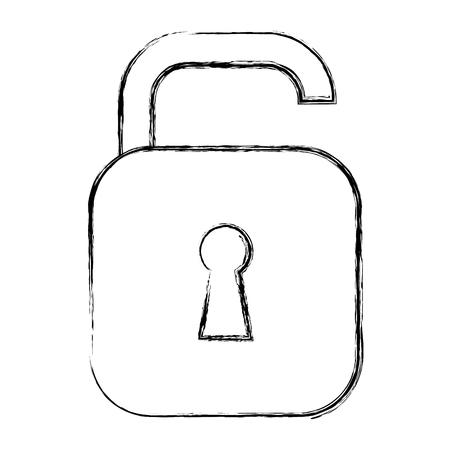 safe secure padlock icon vector illustration design Фото со стока - 96252327