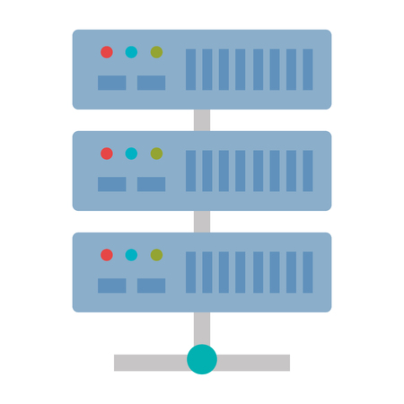data center server icon vector illustration design 向量圖像