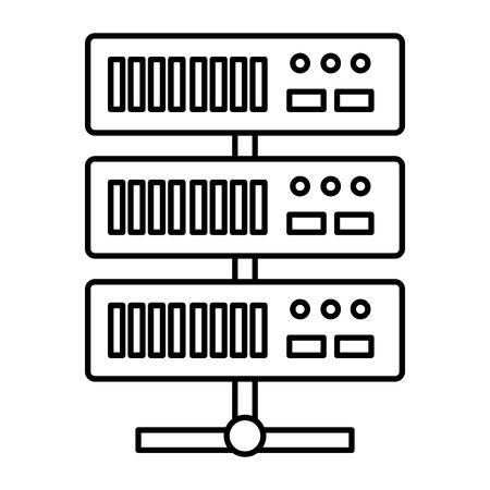 data center server icon vector illustration design Ilustração
