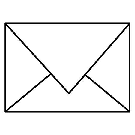 Envelope mail isolated icon vector illustration design. Çizim