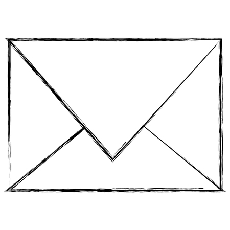 Envelope mail isolated icon vector illustration design.  イラスト・ベクター素材