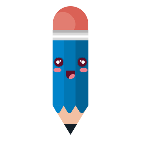 pencil write kawaii character vector illustration design