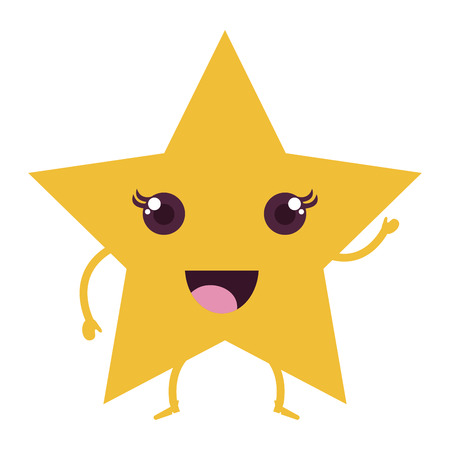 star decorative kawaii character vector illustration design Illustration