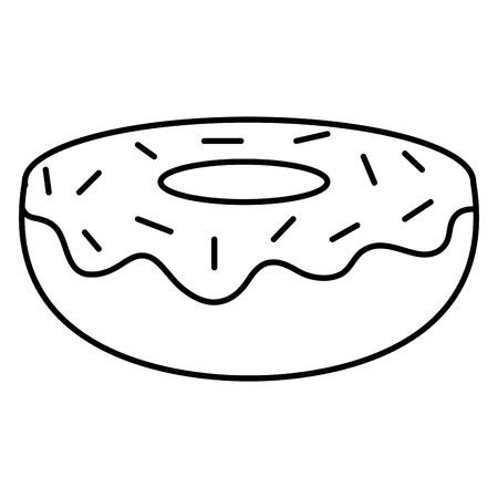 sweet donut bakery icon vector illustration design Stock Vector - 96253431