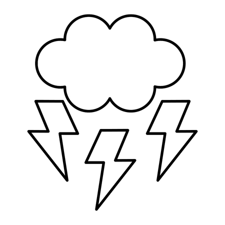 cloud with thunders icon vector illustration design