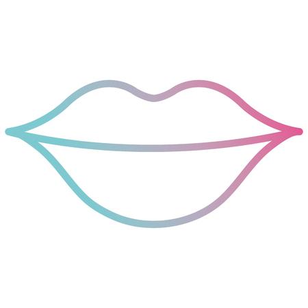 woman lips sensuality icon vector illustration design