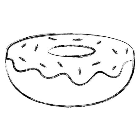 sweet donut bakery icon vector illustration design