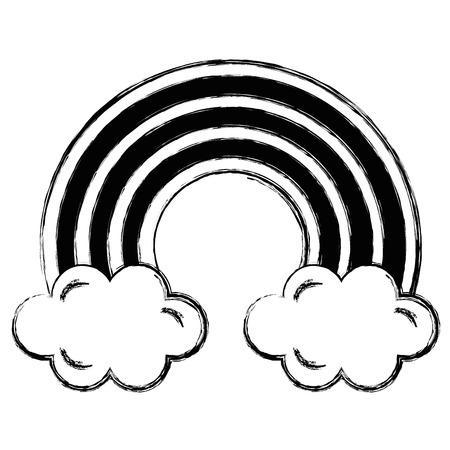 cute rainbown with clouds vector illustration design 版權商用圖片 - 96254390