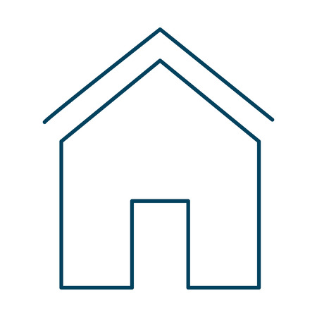 exterior house isolated icon vector illustration design Çizim