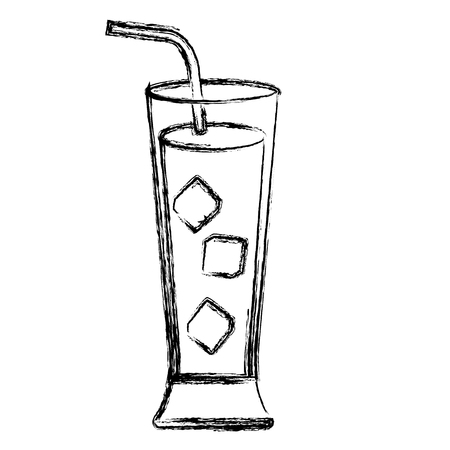 tropical cocktail in glass vector illustration design Иллюстрация