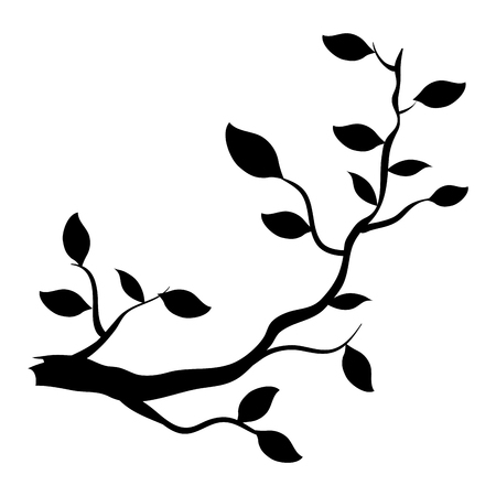 Tree branch plant icon vector illustration design