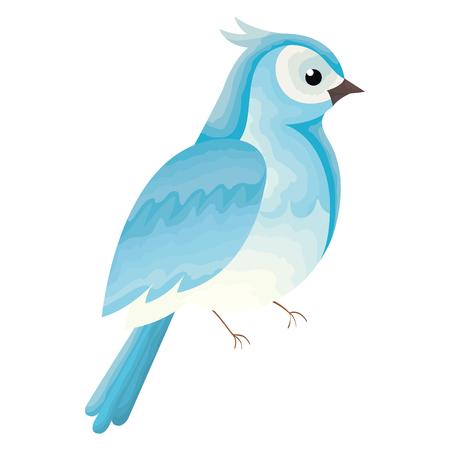 Beautiful bird decorative icon vector illustration design