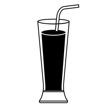 A tropical cocktail in glass vector illustration design
