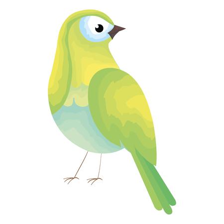 A beautiful bird decorative icon vector illustration design Иллюстрация