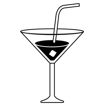 Tropical cocktail in cup vector illustration design Illustration