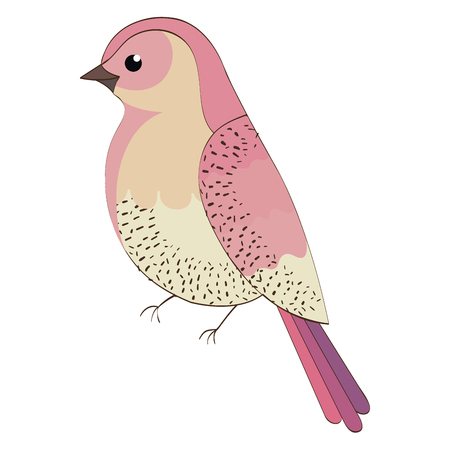 beautiful bird decorative icon vector illustration design Çizim