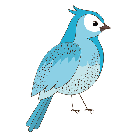 beautiful bird decorative icon vector illustration design Illustration