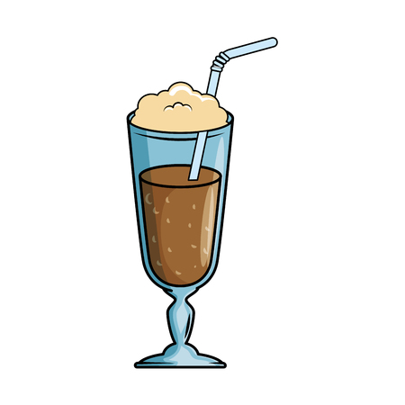 Milk shake fresh icon vector illustration design Illustration