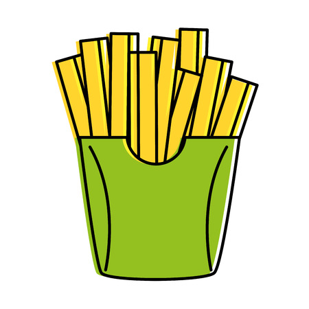 delicious french fries icon vector illustration design Ilustração