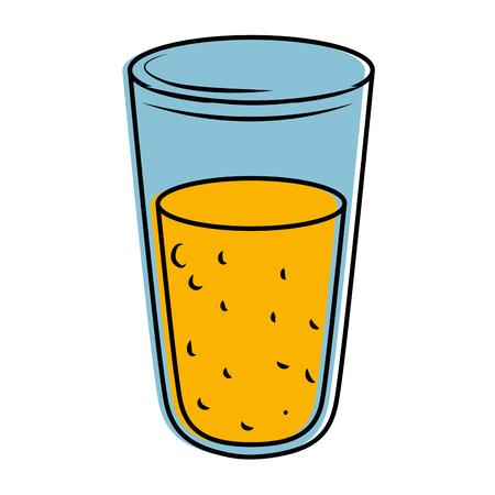 fresh juice glass icon vector illustration design