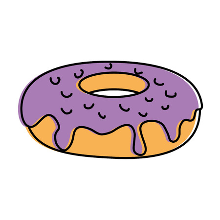 Delicious and sweet doughnut vector illustration design Illusztráció