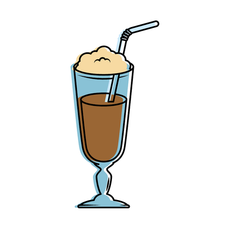 Milk shake fresh icon vector illustration design Foto de archivo - 96391533