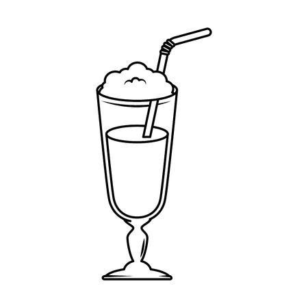 milk shake fresh icon vector illustration design