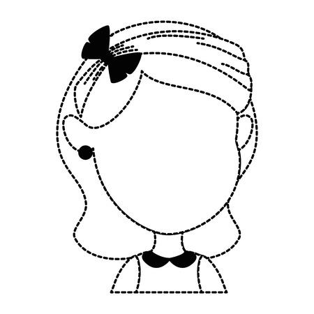 cute faceless little girl vector illustration design 일러스트