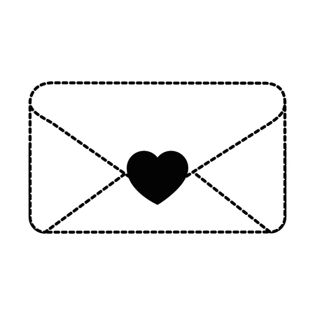 envelope with heart seal vector illustration design Stock Vector - 96444741
