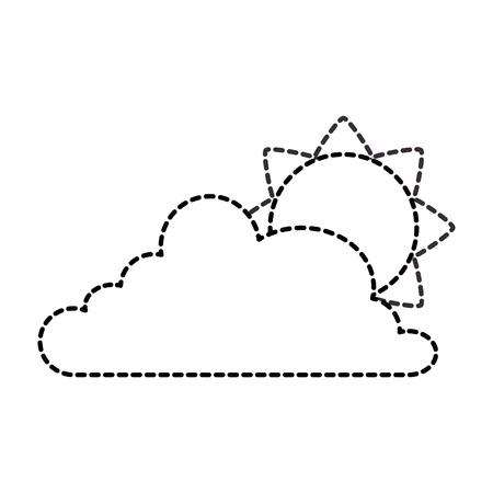 cloud weather with sun vector illustration design 일러스트