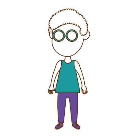 cute little boy vector illustration design