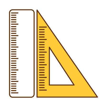 スクールルーラーアイコンベクトルイラストデザイン