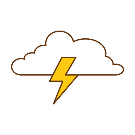 Cloud with thunder vector illustration design
